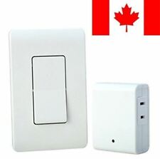 Woods 59773WD Wireless Wall Switch Remote For Indoor Light Control, White