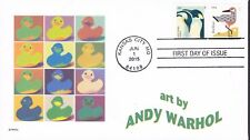 RUBBER DUCKY   ANDY WARHOL    FDC- DWc CACHET