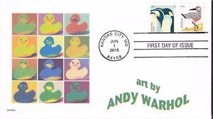 ANDY WARHOL  RUBBER DUCKY  DUCKS    FDC- DWc CACHET
