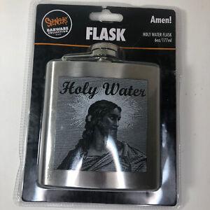 Spencers Holy Water Flask 6 oz./177 ml Jesus Barware