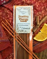 Positive Energy Wicca Incense  Orange & Cinnamon 12 Pack Witchcraft Pagan