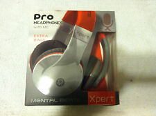 Mental Beats Xpert Pro Headphone Headset w/ Microphone Model 61850 ( Red/Gray)
