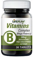 Lifeplan Vitamin B Complex Mega 500mg - 30 tablets