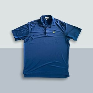 Peter Millar Masters Blue Polo EUC Sz XL