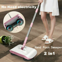 Spin Hand Push Sweeper Broom Household Floor Cleaning Mop without Electricity