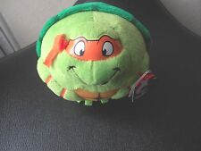TY BEANIE BABIES PLUSH TURTLE MICHELANGELO NINJA TURTLES NWT CUTE