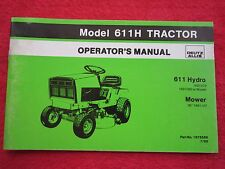 1985 DEUTZ ALLIS 611 HYDRO LAWN & GARDEN TRACTOR OPERATORS MANUAL