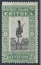 1930 ERITREA SOGGETTI AFRICANI 25 CENT MNH ** - K036