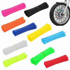 72PCS Motorcycle Motocross Spoke Wrap Skin Coat Trim Cover Pipe Dirt Bike Wheel