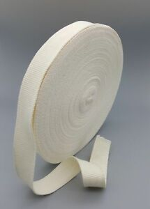 32mm Wide Off White Cotton Tape Canvas Soft Webbing tape upholstery