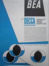 4/1964 PUB DECCA DOPPLER & PICTORIAL DISPLAY BEA AIRLINE TRIDENT AIRLINER AD