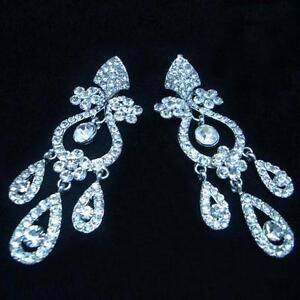 Fashion Drop Dangle Crystal Wedding Pierced Party Prom Gift Earrings (DAE90970