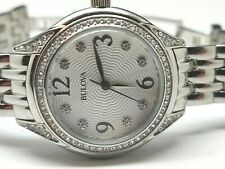 Ladies Bulova Diamond Accent 96L205 Designer Watch (193E)