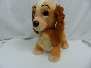 Walt Disney Resort Lady in the Tramp Plush Dog Puppy Stuffed Animal Toy Brown