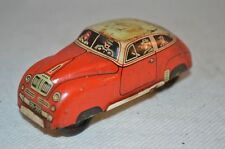 Vintage tin plate car FD 202 made in western germany 40-50er Jahre 9 cm long