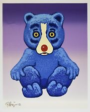 George Rodrigue Blue Dog Boogie Bear Split Font Silkscreen Print Signed Artwork