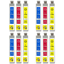 12 C/M/Y Ink Cartridges for Epson Stylus D120 DX6000 DX9400 S20 SX215 SX600FW
