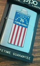 1976 Bicentennial  Zippo fuel tin 4th of July special 2016 Zippo lighter mib