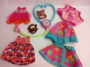 Baby Alive Clothing and Accessories. 4 outfits Plus Toys and Stethoscope