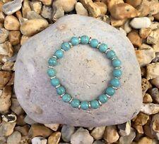 TURQUOISE Semi Precious Gemstone Bracelet ~ by Lola & Lily Rose 🌹