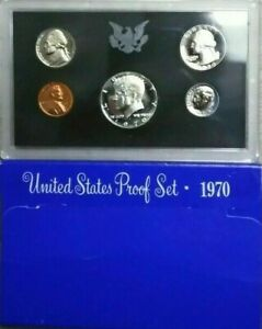 1970-S US Proof Mint Set 5 Coins Silver & CLAD 21whl0104