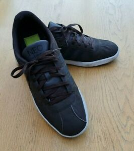 Adidas Neo Brown & Black Leather Trainers UK 10.5 (EU45.5) Excellent Condition