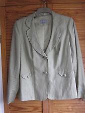 Linen Patternless Formal Plus Size Coats & Jackets for Women