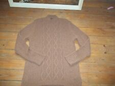 GOLLEHAUG JUMPER Cable Knit Chunky BROWN