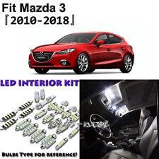 7 x White Interior LED Light Package Kit for Mazda 3 Sedan Hatchback 2010 - 2018