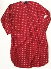 Teddy Bear Nightshirt Nightgown Knothe L XL Pajamas Red Noel Nite Shirt Holiday