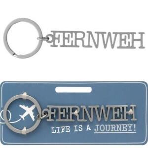 Schlüsselanhänger Fernweh Reise Metal Schlüsselwort Anhänger sheepworld Geschenk