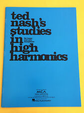 Ted Nash's Studies in High harmonics, for Saxophone