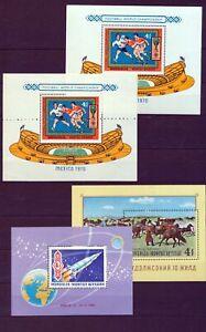 Mongolia Soccer Sport Space Mini Sheets Incl.Misperf MNH x6(Tro703