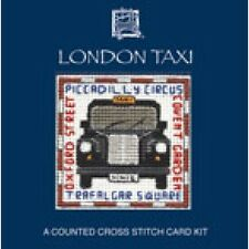 London Taxi Card Cross Stitch Kit By Textile Heritage LMLT