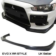 Mitsubishi Evo X Evolution 10 Front RA STYLE LIP SPLITTER Plastic 08-12 UKSTOCK