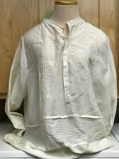 NEW Johnny Was Sinta Pintuck Blouse NWT Size Large Ivory Cotton/Silk blend