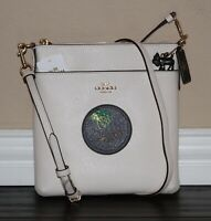 💚 COACH x Wizard of Oz Kitt Messenger Crossbody Bag Purse Toto Dog Charm NWT