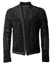 BNWT BALMAIN x H&M Black Embroidered Blazer Metal Velvet Jacket EUR 46 - 36R