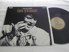 ELVIS PRESLEY On Stage February 1970 LP RCA Victor Records Tan Made in Canada