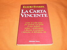 egidio sterpa la carta vincente editoriale nuova 1982