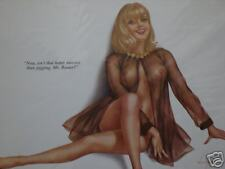 vintage VARGAS PIN-UP PRINT nude blond girl EXERCISE
