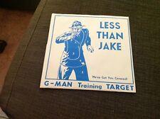 1997 7 Inch 45 Rpm Less Than Jake G-man Training Target Punk Rock 1 Sided?