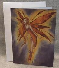 Amy Brown Fairy Fire Fly Note Greeting Card Faery Fantasy Mythical