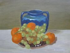 "E.M. KINGWELL AUSTRALIAN OIL ""STILL LIFE FRUITY PIPS"" 1978"