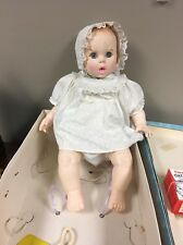 1970 Gerber Baby Doll With Cardboard Carrying Case With Some Ccessories 18""