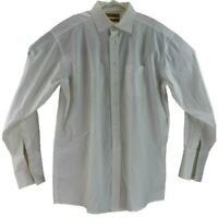 Roundtree Yorke Gold Label Mens 16 34 White Non Iron Dress Shirt Long Sleeve