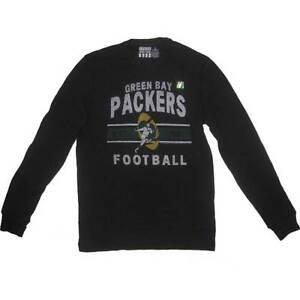 New Men's NFL Green Bay Packers Waffle Long Sleeve Long Sleeve  Black Large-2XL