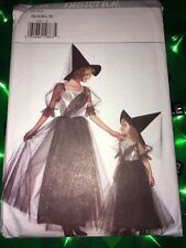 Witch Costume Sewing Pattern Uncut Butterick #3588 Misses' Xs S M L Xl All Incld
