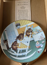 Rock And Rollers Cat Plate Country Kitties 1988 Hamilton By Gre' Gerardi 4283D