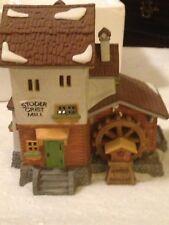 Department 56 Alpine Village Stoder Grist Mill 1988 #59536 Retired Christmas